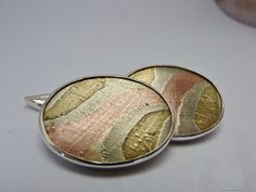 mokume gane Sterling silver brass and copper by MonumentsToCulture