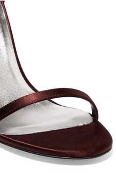 Stuart Weitzman - Nudistsong Satin Sandals - Burgundy