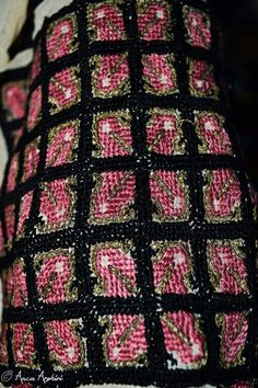Romanian blouse detail. Adina Nanu collection. @ Comori etnografice Facebook page Folk Embroidery, Romania, Festivals, Ethnic, Projects To Try, Textiles, Detail, Blouse, Bass Drum