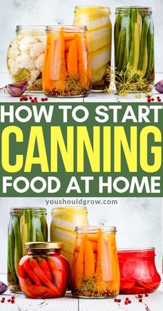 Find out what you need to get started with home canning. Remember that when you're just starting to can at home, you don't have to try to fill your whole pantry. It's okay to work in small batches until you get more comfortable canning and find a few favorite recipes.