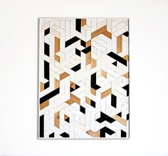Created by hand, this wood wall art has been intricately designed to accentuate a geometric pattern, and is perfect for any niche in your home. Each piece is crafted by hand, and the grain of the wood may vary a little bit from piece to piece. The color scheme of the piece is white,