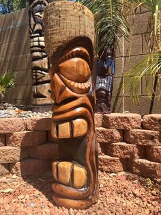 Handcarved Palm tiki  Sealed, heavy Phx az  Hawaiian, luau, Polynesian, party, backyard decorating, Tiki  Check out more tikis on my Facebook page. Stoopid tikis  https://www.facebook.com/Stoopidtikis