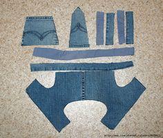 Мобильный LiveInternet Джинсовые штанишки на лямках. Шьём сами. | Efimia_Efimova - Дневник Efimia_Efimova |