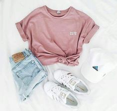 Heading somewhere warm for spring break? Make sure to pack jean shorts, a cute graphic tee, and white sneakers. Let Daily Dress Me help you find the perfect outfit for whatever the weather!