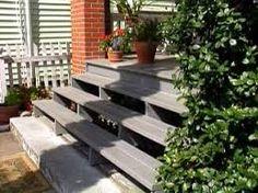 Image result for modern wooden front steps