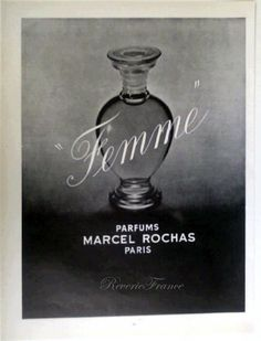 Original Vintage French Ad   Marcel Rochas Parfume 1953 Femme by reveriefrance on Etsy