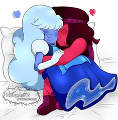 Hi guys! Today I bring a drawing of one of my favorite couples in steven universe Ruby and Sapphire I have also done the process in a video Speed Paint: www.youtube.co...