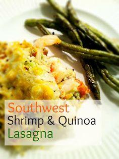 "Southwest Shrimp and Quinoa ""Lasgana"""