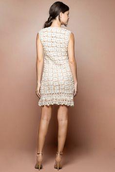 Vestido Crochet Cacau Único - Vanessa Montoro - vanessamontoro