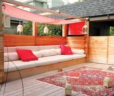 Modern Moroccan outdoor patio: image via houseandhome.com