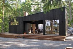 Cottages and Cabins Sauna Design, Cabin Design, Cottage Design, House Design, Cabana, Sauna House, Scandinavian Architecture, Outdoor Sauna, Box Houses