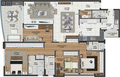 planta apartamento 3 dormitórios - Pesquisa Google