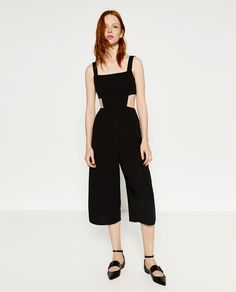 CUT-OUT STRAPPY JUMPSUIT-JUMPSUITS-WOMAN | ZARA United States