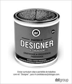 Precisamos de mentes criativas, candidatem-se a esta oportunidade! #design #comunicação #dstgroup