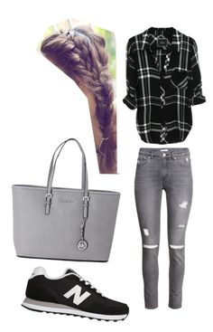"""Untitled #124"" by amna-hakeem on Polyvore featuring H&M, New Balance and Michael Kors"