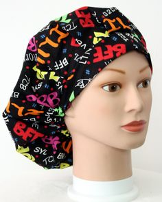 Texting Lingo Bouffant Surgical Scrub Hat by duehringphotocc, $5.00
