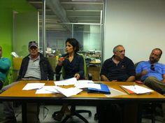 Lorena presiede l'assemblea soci www.coopagridea.org