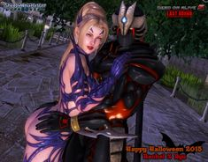 """It's October Fest Month and here's a special render of my faved power couple of Ninja Gaiden and DOA """"Rachel & Ryu Hayabusa"""" Rachel in her """"Fiend Hu. Halloween 2015 - Rachel X Ryu Ryu Hayabusa, Ninja Gaiden, Halloween 2015, Mood Pics, Doa, Deviantart, Couples, Video Games, October"""