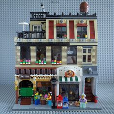 Lego Building, Building Ideas, Shop Buildings, Lego Modular, Lego House, Lego Ideas, Everyday Objects, Lego Creations, Lego City