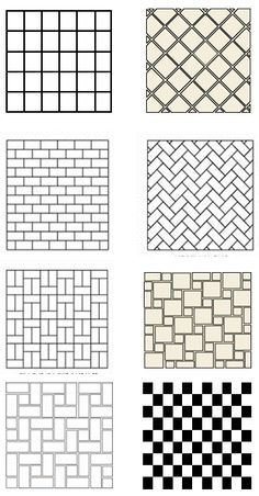 basketweave tile patterns sizes - Yahoo Image Search Results
