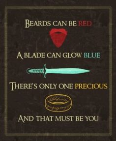 LOTR style valentine...beautiful!