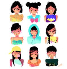 Girls on Behance, this is adorable.