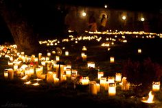 Alla Helgons Dag / Allhelgonadagen (All Saints Day), Celebrated in Sweden on the Saturday between the 31st of October and 6th of November. Remembrance and lighting of candles for departed relatives and loved ones.