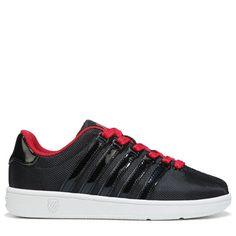 K-Swiss Kids' Classic VN T Sneaker Preschool Shoes (Black/Red/White) - 11.5 M