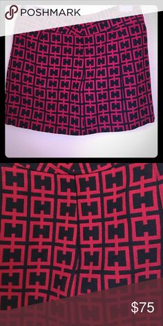 "Bebe Wool Micro Mini Retro mod micro mini. Black and red geometric pattern. Length is 13.5"" Waist is 14"". Unlined. 100% virgin wool made in the USA 🇺🇸 namaste bebe Skirts Mini"