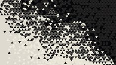 Wallpaper white and black abstract wallpaper, pattern, digital art, triangle • Wallpaper For You HD Wallpaper For Desktop & Mobile