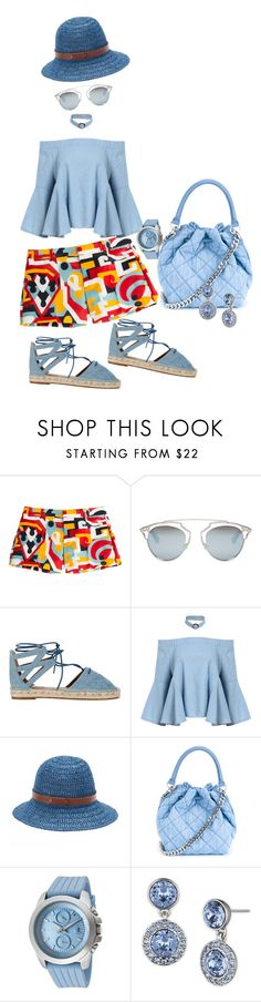 """puzzle Pants"" by blujay1126 ❤ liked on Polyvore featuring Dsquared2, Christian Dior, Aquazzura, Chaps, STELLA McCARTNEY, a_line and Givenchy"
