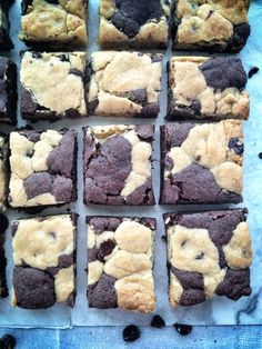 Coffee & Cookie Brownie Bars by @realsustenance