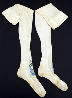 Stockings 1875, French, Made of silk and cotton