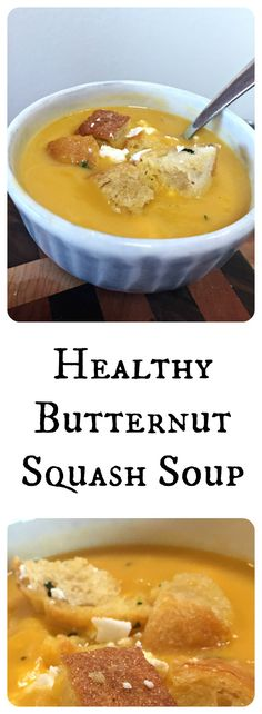 Healthy Buternut Squash Soup
