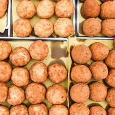 Arancini | Arancini (a.k.a. arancine), fried rice balls stuffed with peas and meat sauce, are among the traditional Sicilian snacks served at Le Sicilianedde.