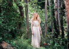 Wit Kant Mosterd korte jurk receptie jurk Infinity jurk door mimetik