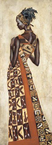 Femme Africaine II Lámina