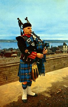 Nova Scotia Tartan-They greet the cruise ships as they come into the harbor.