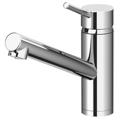 IKEA - YTTRAN, Kitchen faucet, , 10-year Limited Warranty. Read about the terms in the Limited Warranty brochure.You save water and energy, because the faucet has a mechanism that reduces water flow while maintaining pressure.The faucet insert has hard, durable ceramic discs that can handle the high friction that occurs when you change the temperature of the water.