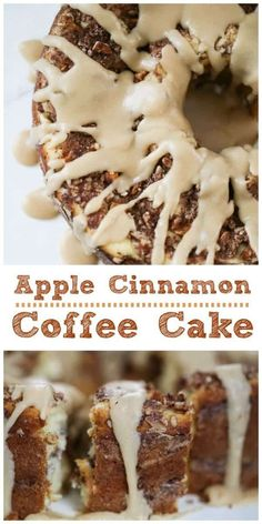 Apple Cinnamon Coffee Cake - Sugar Free Option too!Apple Cinnamon Coffee Cake - Sugar Free Option too! This lush, vanilla butter coffee cake has cinnamon-sugar baked in with bits of apple, pecans and walnuts in every slice. Breakfast Hotel, Apple Breakfast, Breakfast Cake, Morning Breakfast, Breakfast Recipes, Breakfast Casserole, Brunch Recipes, Breakfast Ideas, Fun Desserts