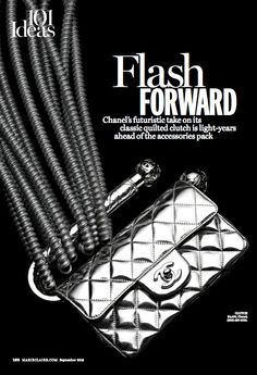 Chanel silver clutch By Kyle Anderson, September Marie Claire