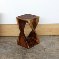 Monkey Pod Wood Walnut Oil-finished Twist Stool (Thailand)  http://www.overstock.com/Worldstock-Fair-Trade/Monkey-Pod-Wood-Walnut-Oil-finished-Twist-Stool-Thailand/5319621/product.html?rcmndsrc=2