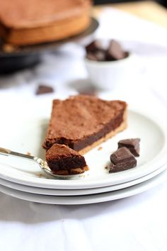 Tarte fondante au chocolat