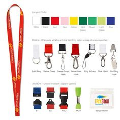 Polyester Lanyard - Polyester lanyard. Factory direct. Pick your lanyard color with your choice of hook for one low price. You imagine it, we deliver it! The best price, low minimums: 250 units, fast delivery. Mix and match from a wide assortment of colors, widths, hooks and decoration methods. Lanyards will ship with Split Ring accessory unless otherwise specified. Optional upgrades available. Fluctuating pricing: please call for pricing. #propelpromo