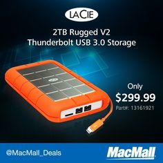 Avoid drive errors with a rugged #Lacie 2TB drive with Thunderbolt and #USB3 at MacMall.