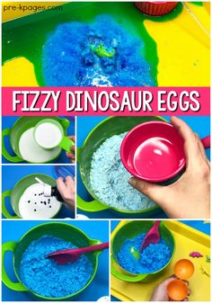 Eggs Fizzy Science Experiment How to Make Fizzing Dinosaur Eggs. SUPER easy DIY recipe for fizzy dino eggs your or kids will LOVE!How to Make Fizzing Dinosaur Eggs. SUPER easy DIY recipe for fizzy dino eggs your or kids will LOVE! Dinosaur Crafts Kids, Dino Craft, Dinosaur Theme Preschool, Dinosaur Projects, Dinosaur Activities, Dinosaur Eggs, Preschool Crafts, Toddler Activities, Crafts For Kids