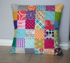 Patchwork quilt pillow: i have plenty of fabric we could use for this one too. But this might take two parties to finish! :)