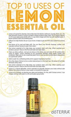 The cleansing, purifying, and invigorating properties of Lemon make it one of the most versatile oils, not to mention the top-selling essential oil that doTERRA offers. Lemon Essential Oil Benefits, Doterra Lemon Oil, Essential Oils For Pain, Essential Oil Uses, Doterra Essential Oils, Young Living Essential Oils, Yl Oils, Lemon Uses, Thing 1