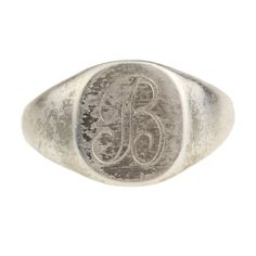 Vintage Letter B Initial Signet Ring in by ArtifactVintage on Etsy, $75.00