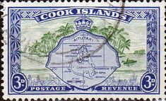 Cook Island 1949 Aitutaki and Palm Trees SG 153 Fine Mint Scott 134  Other Cook Island Stamps HERE